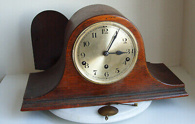 Oak Cased NAPOLEON HAT Westminster 9 hammer - Whittington Chimes  Mantel Clock