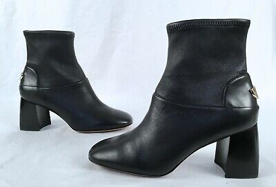 969f4e806a2 NEW TORY BURCH Sidney Boot Hi Veg 31441 Penny Brown Leather 8.5 ...