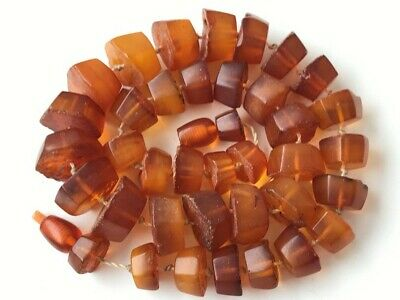 Natural Antique Baltic Vintage Amber OLD BUTTERSCOTCH  BEADS Necklace 48 gr