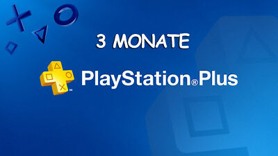 3 Monate PlayStation PS Plus PS4-PS3-Vita (KEIN CODE)