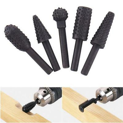 5Pcs Hss Woodworking Rasp Chisel Rotating Embossed Grinding Head ON SALE