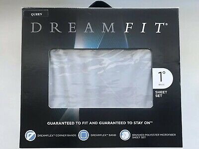 DreamFit 1-Degree Basic 100-Percent Microfiber Sheet Set, Queen, Slate