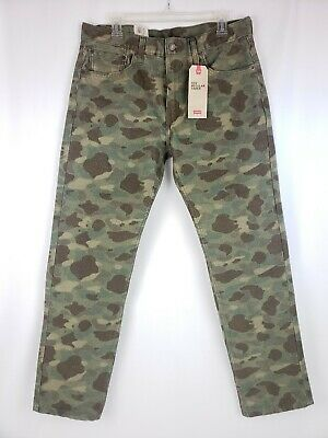 e72ce8d91f7a93 NWT Levi's 502 Men's Camo Regular Fit Taper Stretch Corduroy Pants Size 33  ...