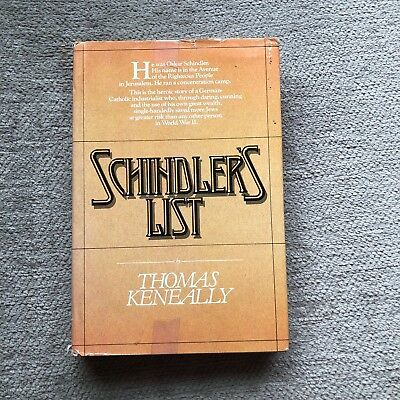 Schindler's List by Thomas Keneally (1982, hardcover, 1st ed.)