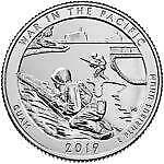2019 S War in the Pacific National Historical Park in Guam Quarter - Silver