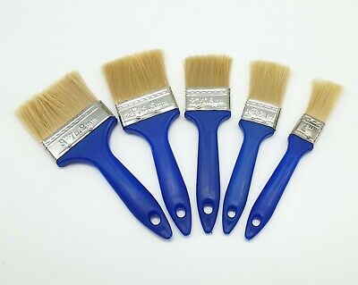 """5 Piece Paint Brush Set Decorating And Diy 1"""" To 3""""  Ergonomic Handle Synthetic"""