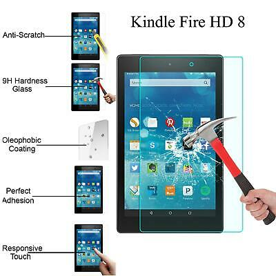 """Genuine Tempered Glass Screen Protector Film For Kindle Fire Hd 8"""" 2017 2018"""