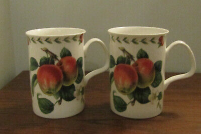Roy Kirkham Redoute Fruit Mugs. Lovely All-Round Pattern & Vibrant Colours.  Exc