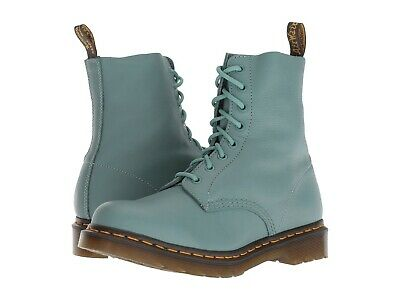 d830d13a31f DR. MARTENS 1460 Pascal Virginia 8-eye Women's Leather Boots Tale Teal QW116