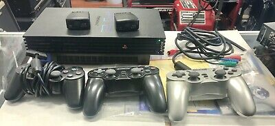 Sony PlayStation 2 (scph-50001/n) 2 Extra Wireless Controllers And Instructions