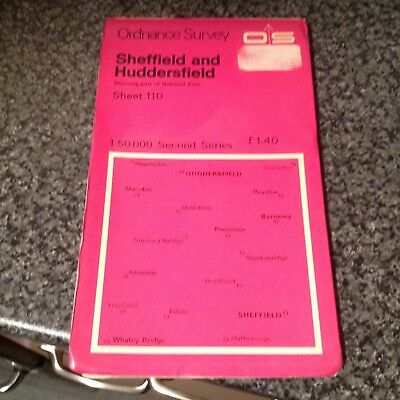 Sheffield & Huddersfield (National Park) Os Map No 110 In Good Clean Condition