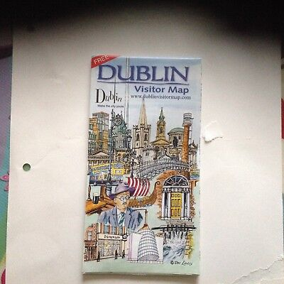 Handy Pocket Sized Dublin Ireland Visitor Map /attractions In New Condition