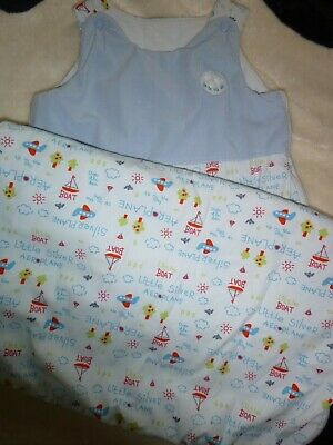 mothercare boats and planes baby boys sleeping bag 18-36 months 2.5 tog