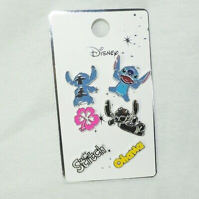 PIN 6er SET * STITCH * DISNEY Anstecknadel Ohana silberfarben