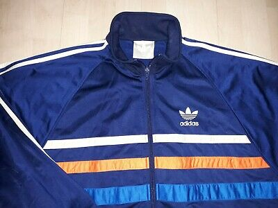 8d5aaa34c85c7 Vintage 90s ADIDAS FIRST TRACKSUIT TOP S Superstar Firebird Lendl ATP  Safety Y3