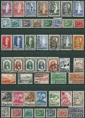 Iceland - Lot With Used Stamps - Short Perf May Occur