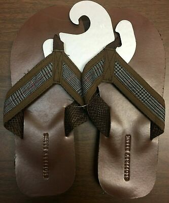 bea8ab0cd22 ABEO MENS BROWN Leather Flip Flop Sandals Size 9 -  19.00
