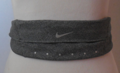 6f7451526fc9c NIKE Expandable Waistpack Heather Grey Black Reflective Silver New