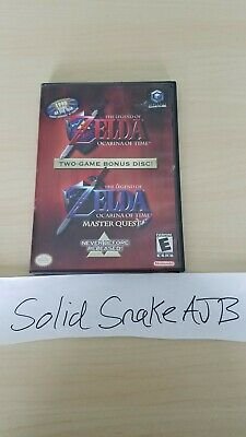 The Legend of Zelda: Ocarina of Time and Master Quest Gamecube w/ guide Rare!
