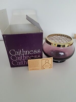 Caithness Glass Posey Bowl Nwb wine solid heavy glass