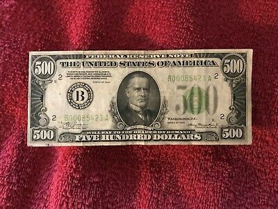 $500 1934 New York, NY - FIVE HUNDRED DOLLAR BILL - Federal Reserve Note