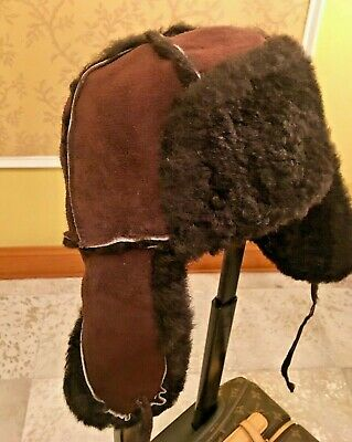 348c83b7d79 PAUL SMITH 100% SHEEPSKIN BROWN HAT Size M made in England -  85.98 ...