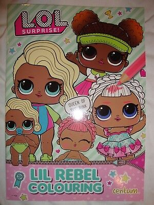LOL Surprise Colouring Book Lil Rebel Colouring Book Brand New RRP £3.99