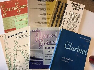 Vintage Clarinet Music Books, 14 Book Collection