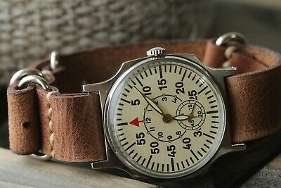 Exclusive Laco Aviator Wrist Watch for Mens rare Pilot Vintage + New Strap