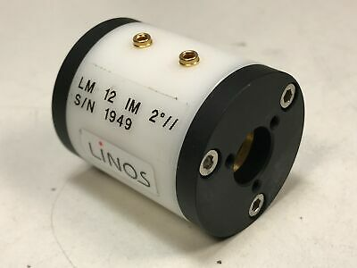 LINOS KD*P LM 12 IM 2// Pockels Cell Laser Q-Switch 1064nm w/ 2 Degree Tilt 12mm