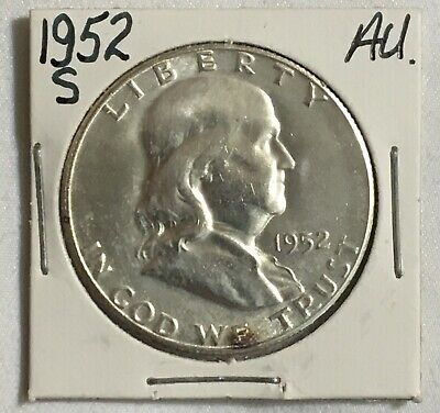 1952 S Franklin Half Dollar. Au