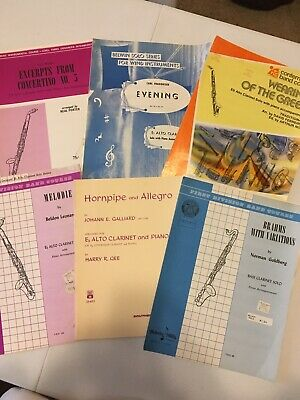 Vintage Bass Clarinet & Alto Clarinet Music Books & Sheet Music Collection