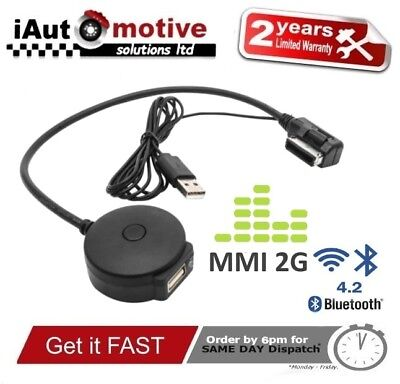 Audi VW Bluetooth Music Streaming Kit iPod Media Interface Cable MMI 2G AMI Lead