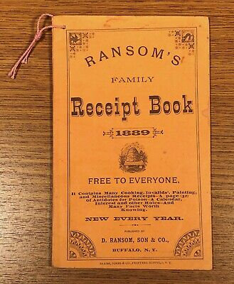 Ransom's Family Receipt Book 1889 Quack Medicine Cures Victorian Remedies