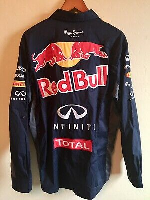 8221a7fc4b3 Authentic Pepe Jeans Infiniti Red Bull Racing F1 Team Men Long Sleeve Shirt  - Xl