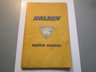 RARE  FABULOUS EARLY 1950s HOLDEN OWNERS MANUAL
