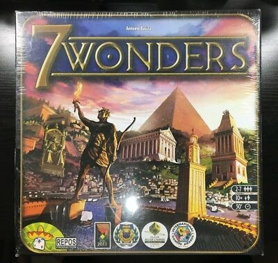 Seven 7 Wonders Core Base Board Game Card Strategy Family Asmodee (NEW, SEALED)