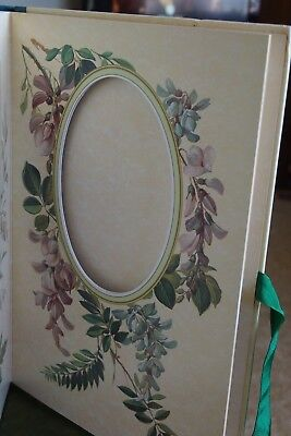 Photo album - Victorian flowers on each page .