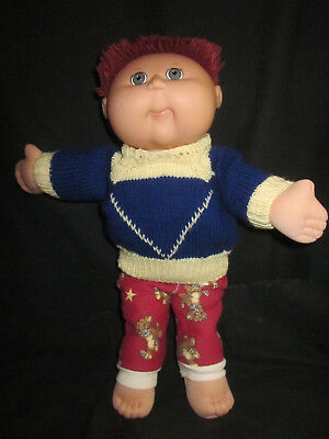 CABBAGE PATCH DOLL BOY CPK Red Hair Blue Eyes Full Size 44cms Clothed - 2004
