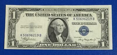 1935A $1 Blue Choice Crisp AU SILVER Certificate! X219 Old US Paper Currency