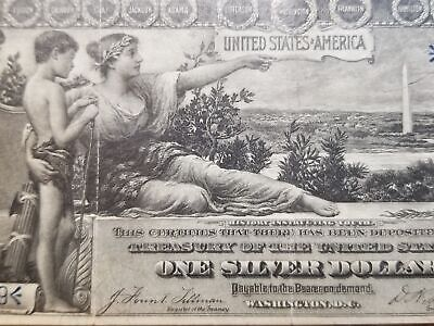 Series 1896 Educational One Dollar Silver Certificate FR224 PMG 30 B16