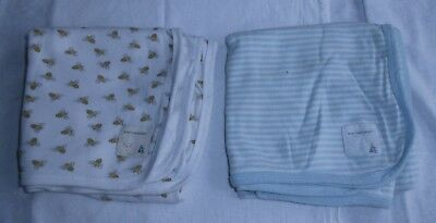 Burt's Bees Baby, 100% Organic Cotton Receiving Blankets, Lot Of 2, Good!