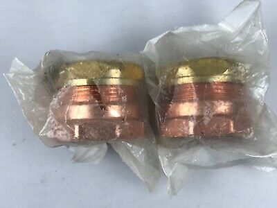 """2 Pack - Nibco 1-1/2"""" inch FPT x SJ - Copper DWV Trap Adapter Fittings # 903-7"""