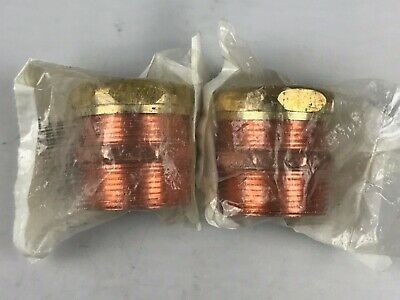 """2 Pack - Nibco 1-1/2"""" inch MPT x SJ - Copper DWV Trap Adapter Fittings # 904-7"""