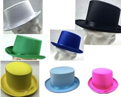 New Adult Party Costume Top Hat Party Magician Hat Wedding Fedora Black 7 Colour