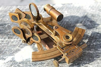"""Solid Brass Sextant 4"""" Astrolabe Marine Nautical Maritime Gift Ships Instrument."""