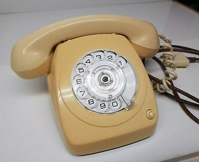 Vintage AWA 8021 S1/251 J Rotary Telephone with Transfer Button in Cream.