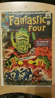 Fantastic Four 49 1966  first full Galactus Silver Surfer KIRBY Complete !