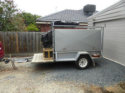 2013 7x4 tradesman trailer setup for camping