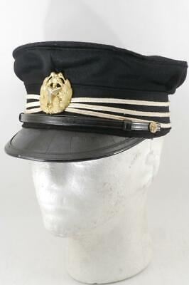 Excellent! WWII Imperial Japanese Cap of Uniform of Fire Company w/ Box #b7201